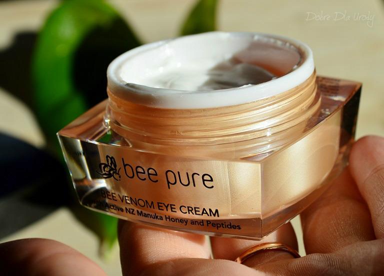Bee Pure Bee Venom Eye Cream Krem pod oczy na jadzie pszczelim z miodem manuka UMF20+ i peptydami