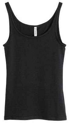 H&M Black Jersey Top