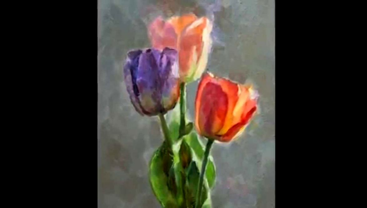 Cobalt and Tulips  still life oil painting step by step   YouTube