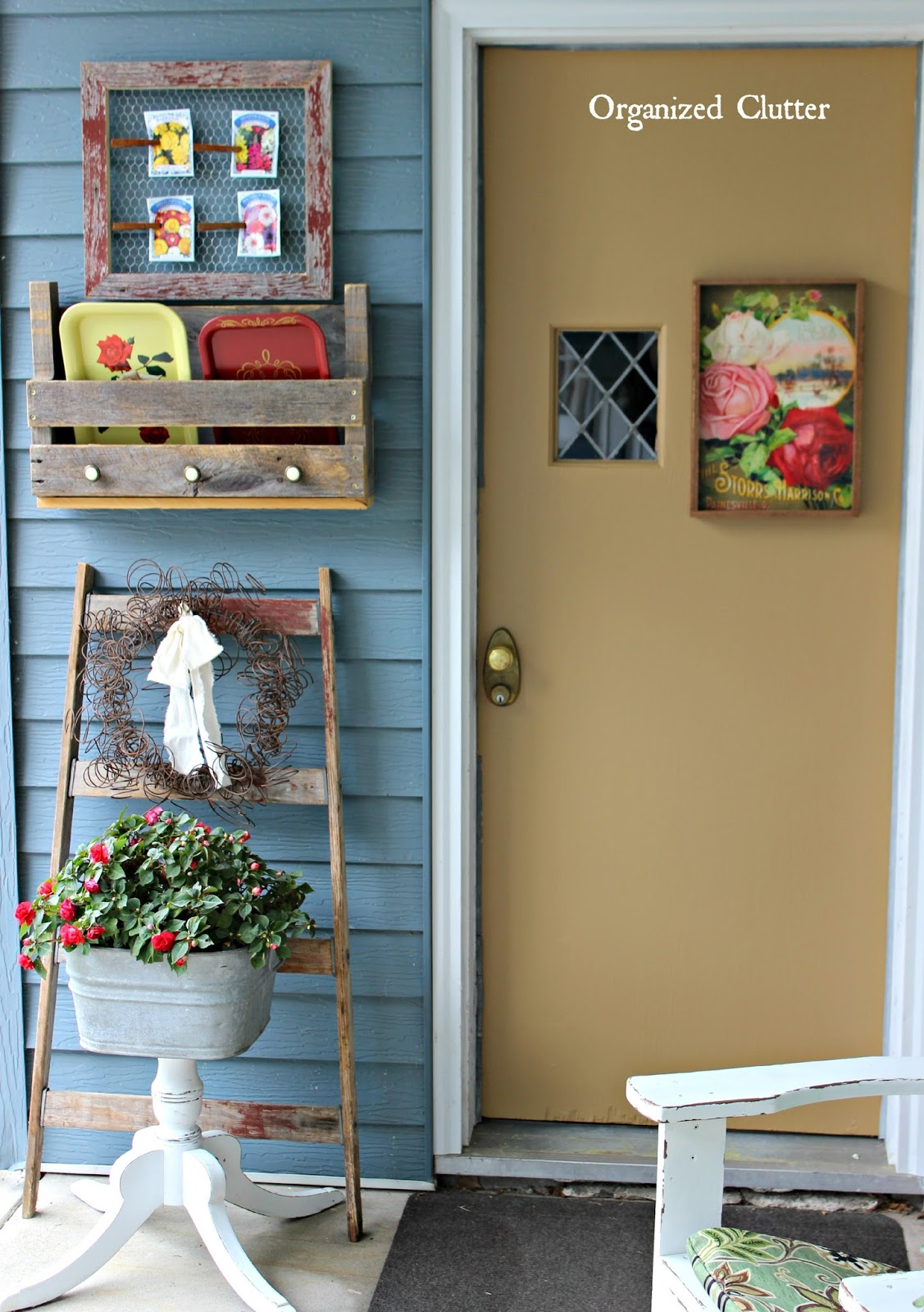 Cool Vintage Decor on the Covered Patio organizedclutter net