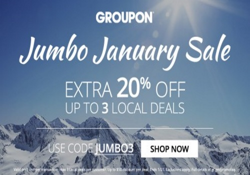 Groupon Jumbo January Sale Extra 20% Off Promo Code
