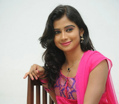 Pallavi sresta photos in pink salwar kameez at oka hindu oka muslim movie trailer launch