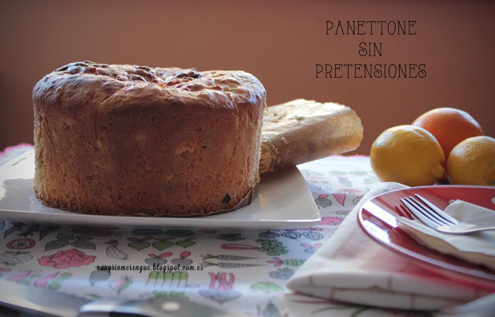 Panettone con naranja, limón y chocolate