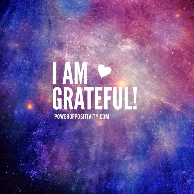 """I am grateful!"" Picture of stars in the sky."