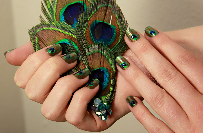 Guest Nails: Peacock Feathers!