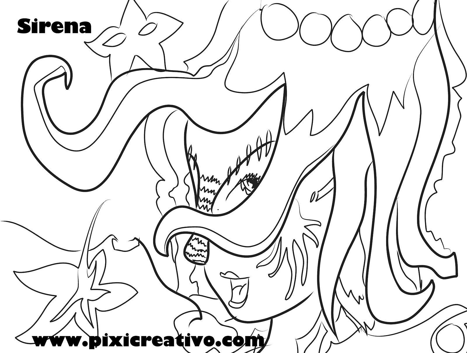 Hermosa Dora Sirena Para Colorear Elaboración - Enmarcado Para ...