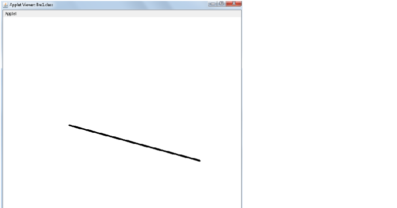 Bresenham S Line Drawing Algorithm In Java Applet : Source codes java c bresenham line algorithm