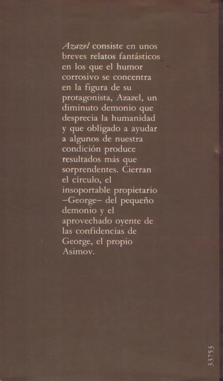 El Libro de Segunda Mano.: AZAZEL. Isaac Asimov - photo#23
