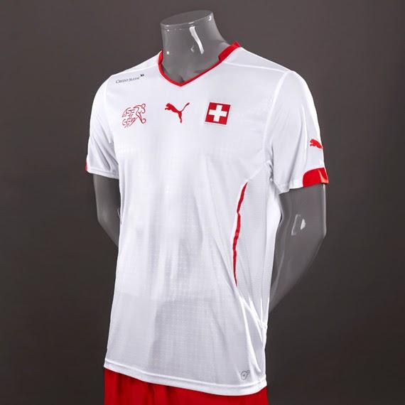 Switzerland Away 2014 World Cup Soccer Jersey