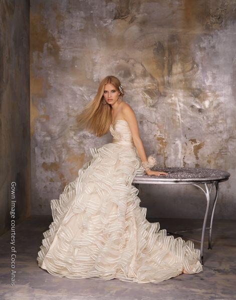 Orange county bride magazine mon amie bridal salon 39 s coco for Mon amie wedding dresses