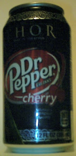 Right side of Cherry Dr Pepper Loki can