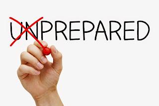Prepared, not unprepared.