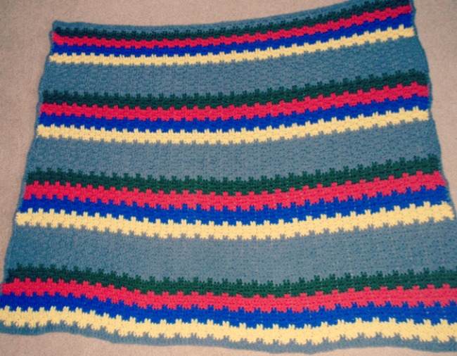 Leaps and Stripes crochet baby blanket