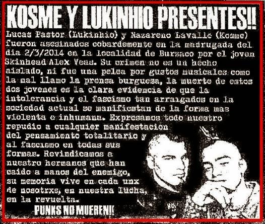 kosme y lukinho presentes en la revuelta punk