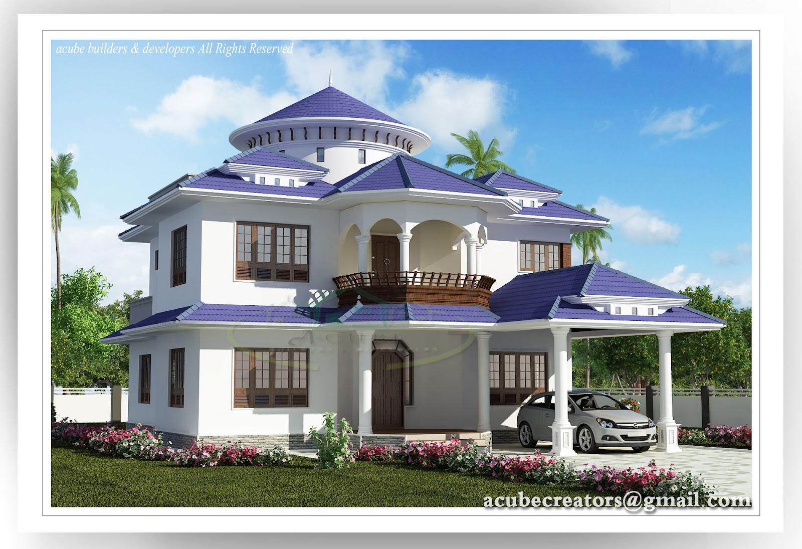 Design luxury house beautiful kerala house 2804 for Beautiful house designs pictures