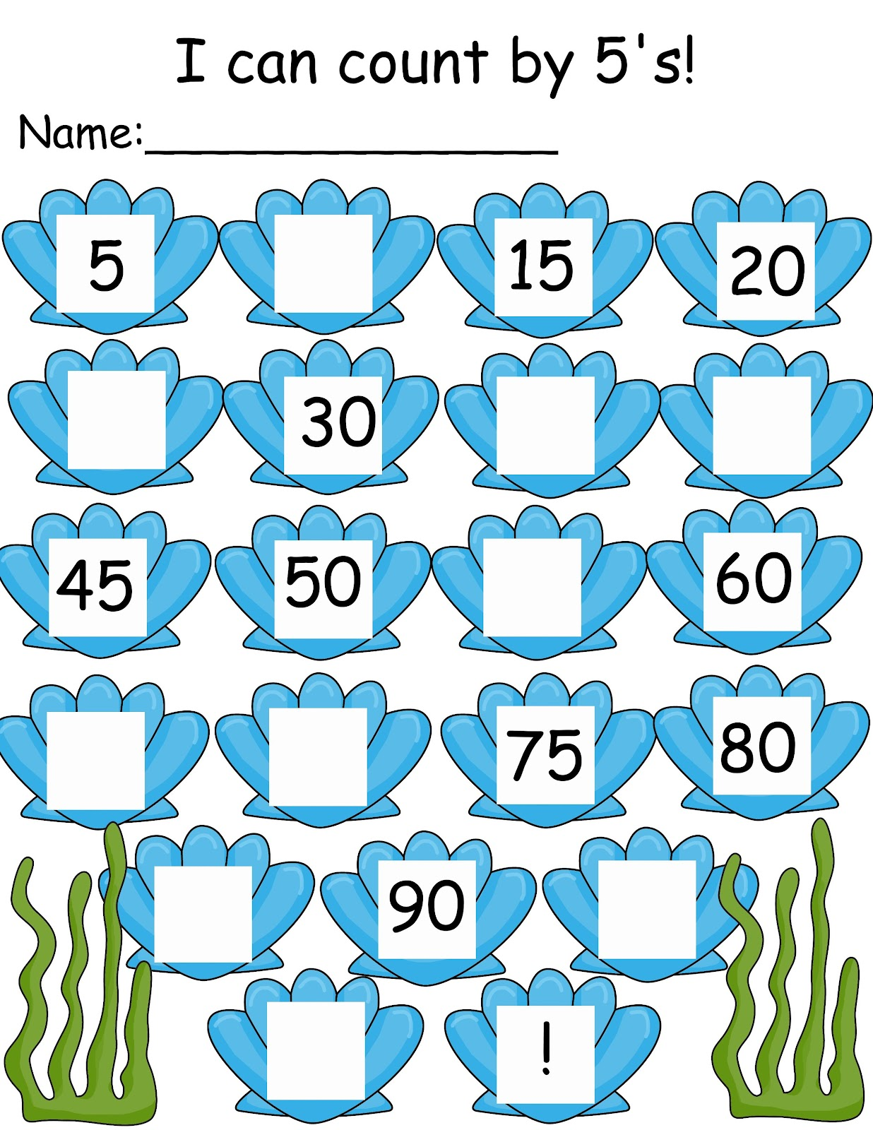 Count By Twos Worksheet – Counting by 5 Worksheets