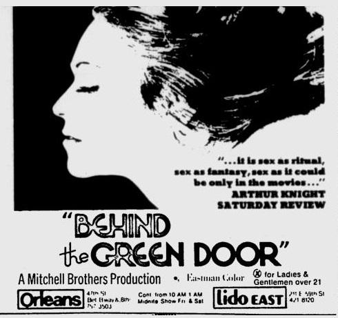 Porn movie behind the green door, brook bradford pornstar