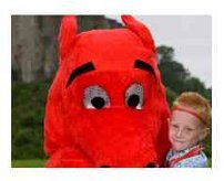 dylan the dragon at llangollen eisteddfod