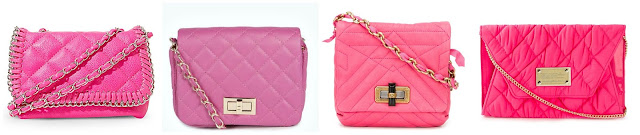 Three of these pink quilted crossbody bags are under $40 and one is from Lanvin for $1,690. Can you guess which one is the designer bag? Click the links below to see if you are correct!