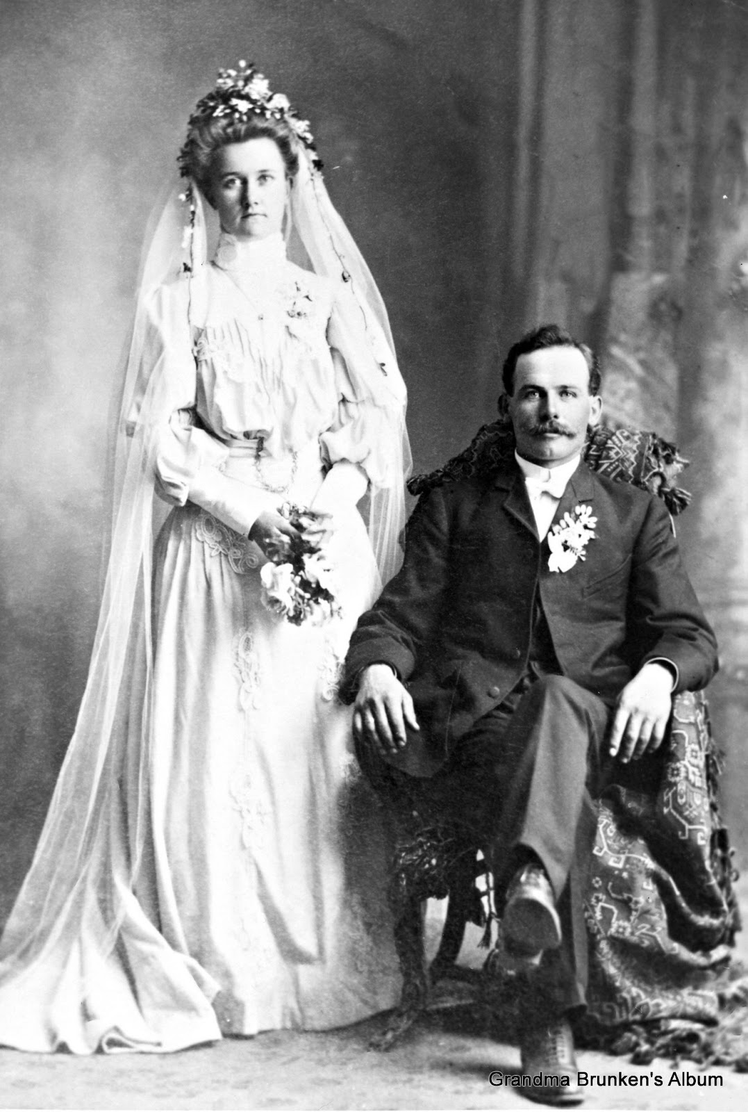 Mary Petersen and William Brunken - 1905