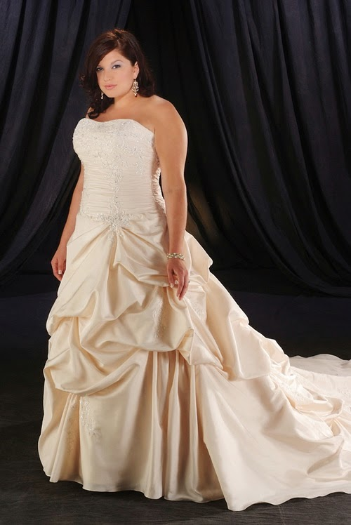 Champagne Wedding Dresses Plus Size