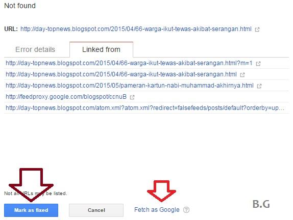Trik Mengatasi URL Crawl Error di Webmaster Tools