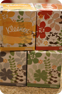 colorful Kleenex box