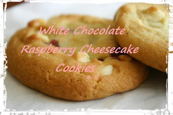 Trying to Keep it Simple: White Chocolate Raspberry Cheesecake Cookies