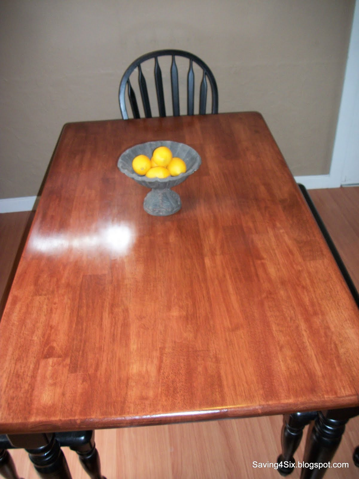 refinishing the dining room table 2