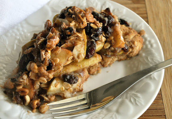 Recipe: Maple apple granola crumb pie with peanut butter shortbread crust