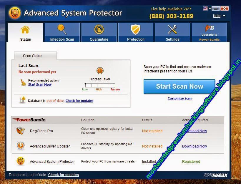 Advanced system protector с ключом активации.Скачать SYSTweak Advanced Syst