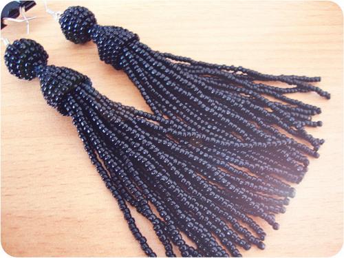Handmade, Earrings, Tassel, Beaded, Beads, Earrings Tassel Beaded, Beaded Tassel Earrings