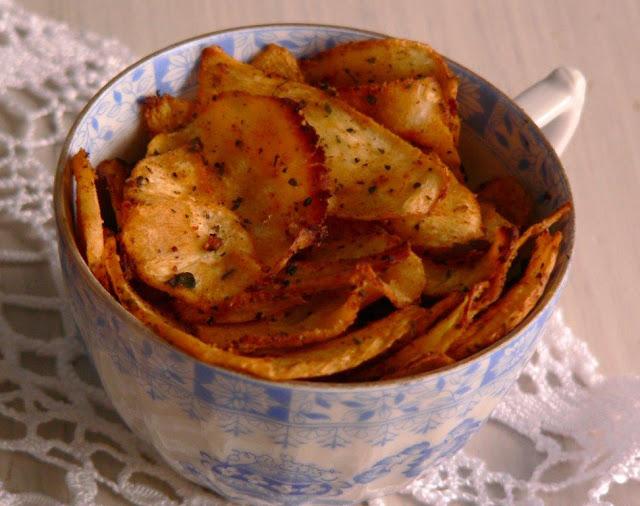 Süßkartoffel Pastinake Chips selbstgemacht Rezept Ofen