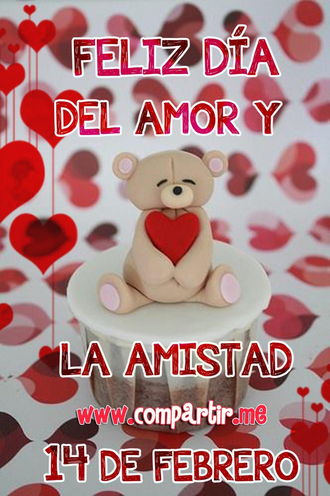 Feliz día del amor y de la amistad tarjeta especial por el 14 de