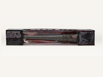 San Diego Comic-Con 2015 Exclusive The Walking Dead B&W Blood Splattered Lucille Vinyl Mini Replica Bat