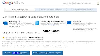 Dashboard Pendaftaran Google Adsense Versi 3