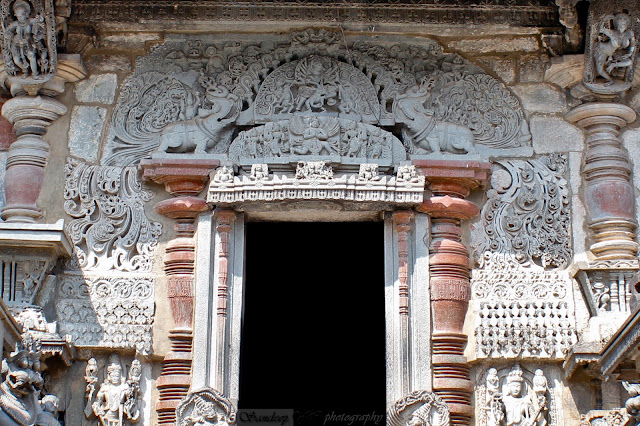 The south entrance, you can observe that it is not as beautifully carved compared to the east door