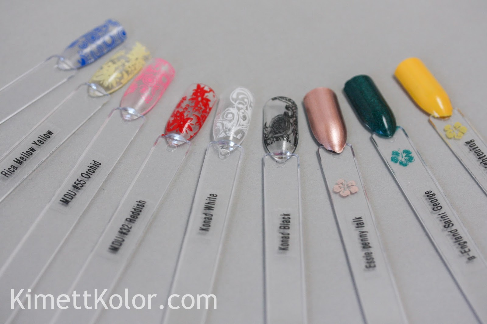 Swatch Sticks And Stamping Polish
