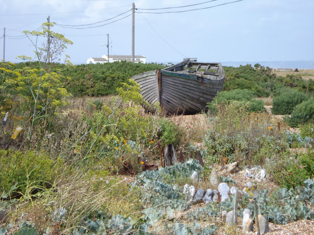A boat in the garden