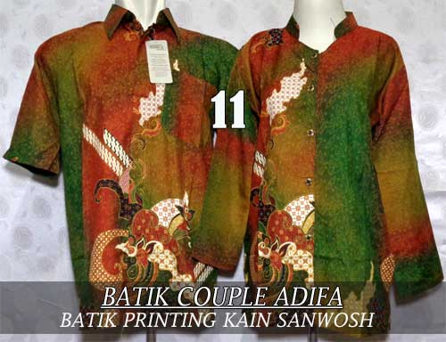 Baju Batik Couple Muslim Terbaru 2015 Gaya Modern Harga Murah