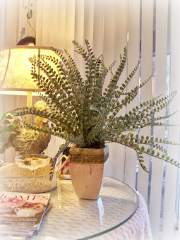Rustic &amp; Elegant fern for the family room...
