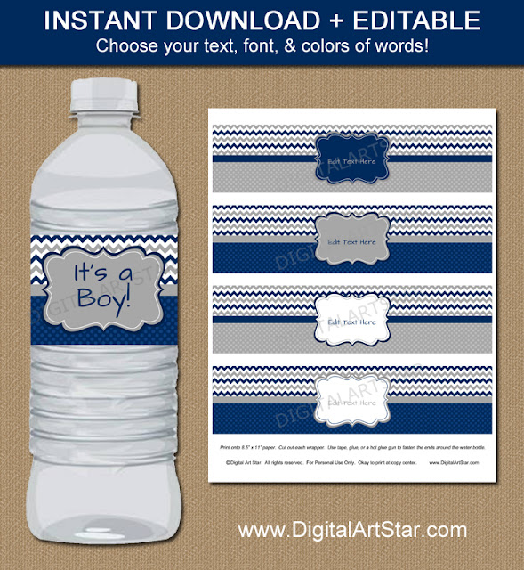 https://www.etsy.com/listing/240030409/baby-shower-water-labels-navy-and-grey
