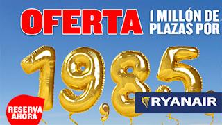 RyanAir celebra 30 Años de ofertas
