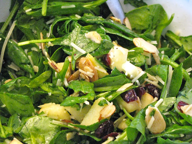 Spinach Apple Salad With White Balsamic Dressing