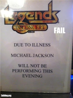 Michael Jackson not performing due to illness
