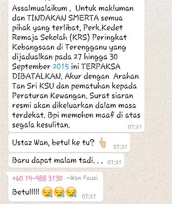mesej dari KPM
