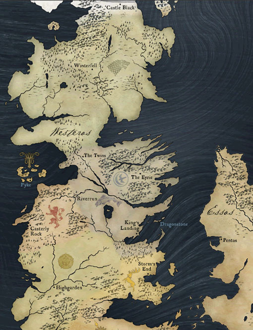 game of thrones map of north. game of thrones map of north.