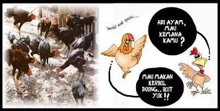 Ayam Makan Kerikil