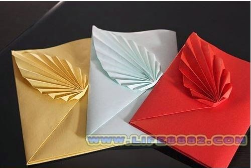 diy paper folded gift envelope the idea king