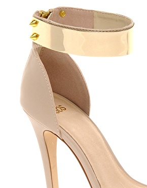 Gold Ankle Plate ASOS heel gold stud ankle zip